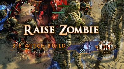 [Witch] PoE 3.8 Raise Zombie Necromancer Easy Build (PC, PS4, Xbox)